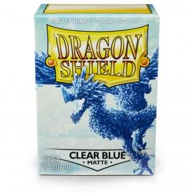 Dragon Shield Matte - Blau (halbdurchsichtig, 100 Hüllen)