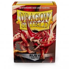 Dragon Shield Matte - Rubinrot (100 Hüllen)