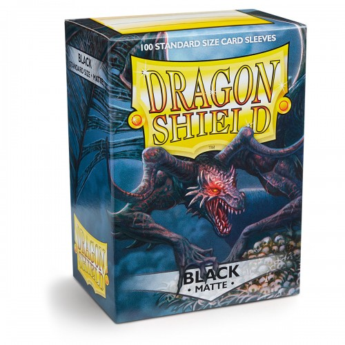 Dragon Shield Matte - Schwarz (100 Hüllen)