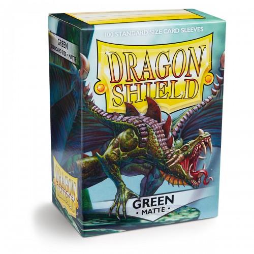 Dragon Shield Matte - Grün (100 Hüllen)