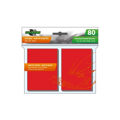 Blackfire Sleeves - Standard Double-Matte Rot (80 Sleeves)
