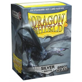Dragon Shield Matte Non-Glare - Silber (100 Hüllen)