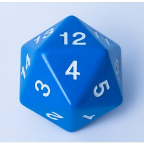 Blackfire Dice - W20 Countdown Würfel 55mm - Blau