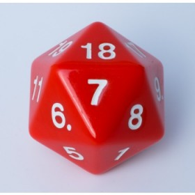 Blackfire Dice - W20 Countdown Würfel 55mm - Rot