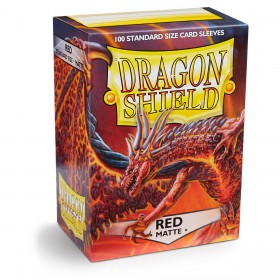 Dragon Shield Matte - Rot (100 Hüllen)