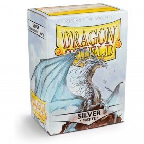 Dragon Shield Matte - Silber (100 Hüllen)