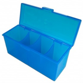 Blackfire 4-Compartment Storage Box – Blau