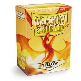 Dragon Shield Matte - Gelb (100 Hüllen)